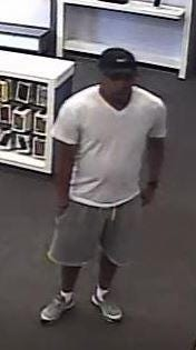 Photo of a man wanted in connection with a robbery at an AT&T store in South Brunswick.