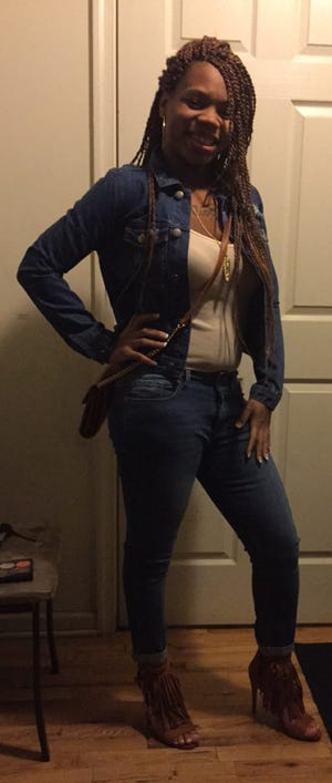 The last known image of Trenice Johnson, taken hours before her death on Sunday, March 27, 2016.
