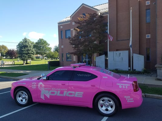 Breast Cancer awareness police vehicle PHOTO CAPTION