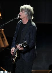 Neil Finn of Fleetwood Mac performs at Wells Fargo Arena in Des Moines, Iowa, on Oct. 14, 2018.