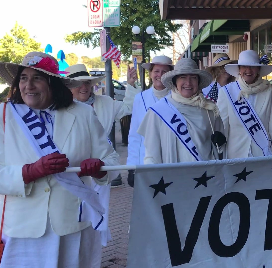 Suffragettes seek woman-friendly, early voting in 2018
