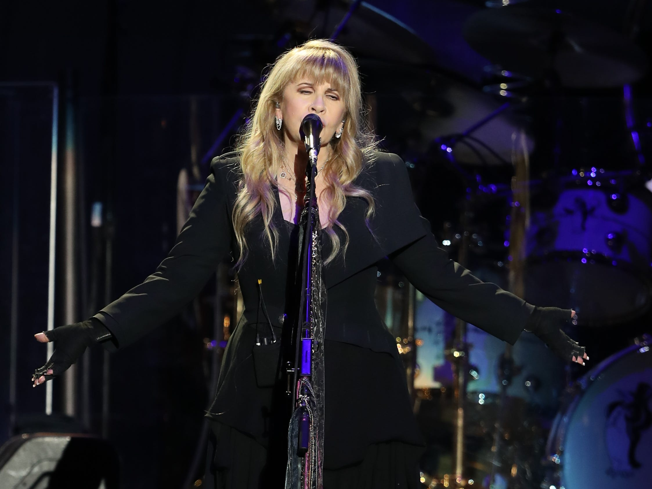 Stevie Nicks of Fleetwood Mac performs at Wells Fargo Arena in Des Moines, Iowa on Oct. 14, 2018.