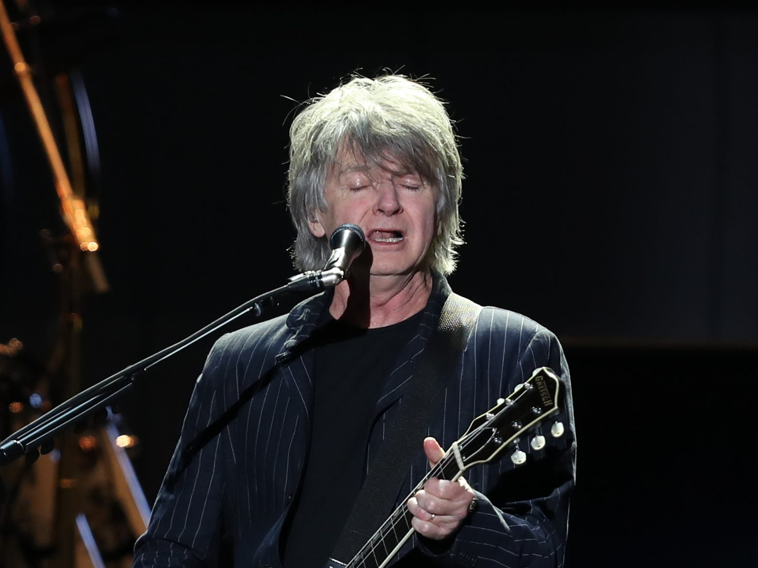 Neil Finn of Fleetwood Mac performs at Wells Fargo Arena in Des Moines, Iowa on Oct. 14, 2018.