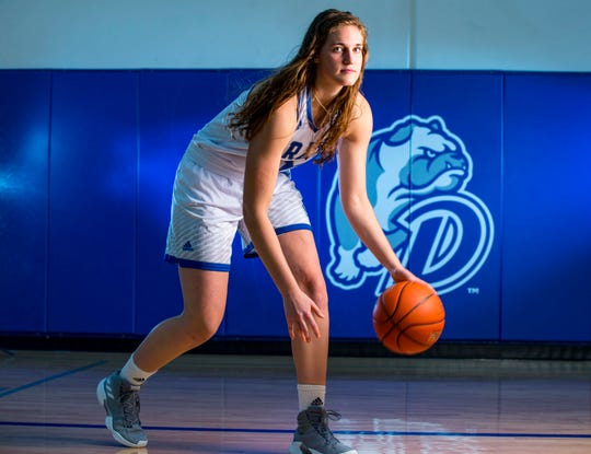 Monica Burich during Drake women's basketball media day Monday, Oct. 15, 2018, in Des Moines.