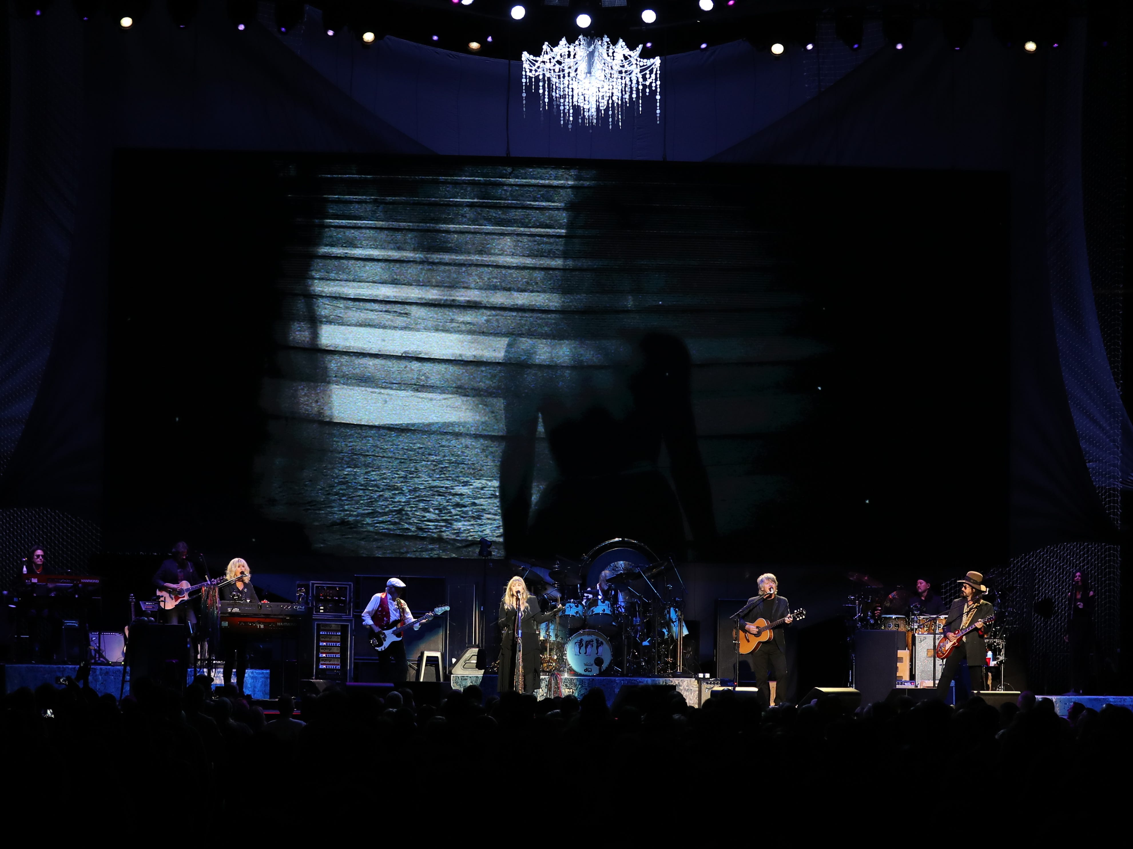 Fleetwood Mac performs at Wells Fargo Arena in Des Moines, Iowa on Oct. 14, 2018.