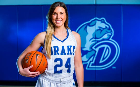 Former Drake player Nicole Miller is working on the front lines at a hospital in Cedar Rapids.