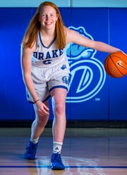 Becca Hittner during Drake women's basketball media day Monday, Oct. 15, 2018, in Des Moines.