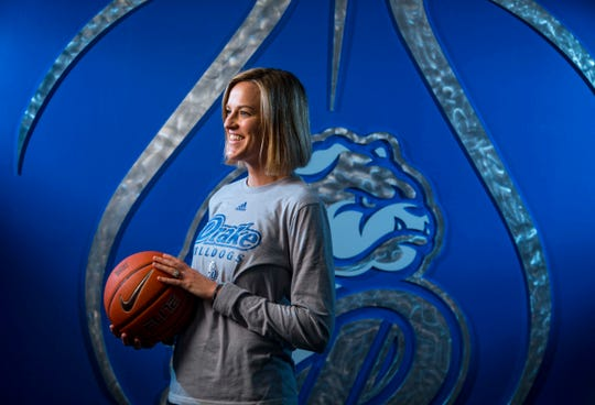 Drake coach Jennie Baranczyk has guided her team to a 12-4 start to the season and 4-0 start in Missouri Valley Conference play.