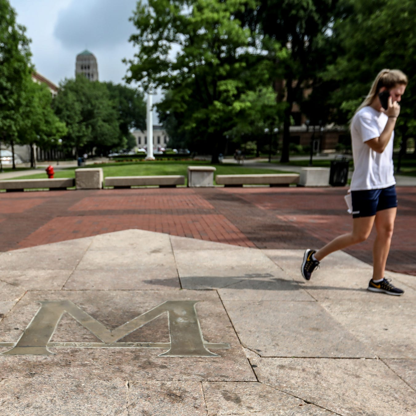 'MSU' spray-painted on University of Michigan landmark ahead of game