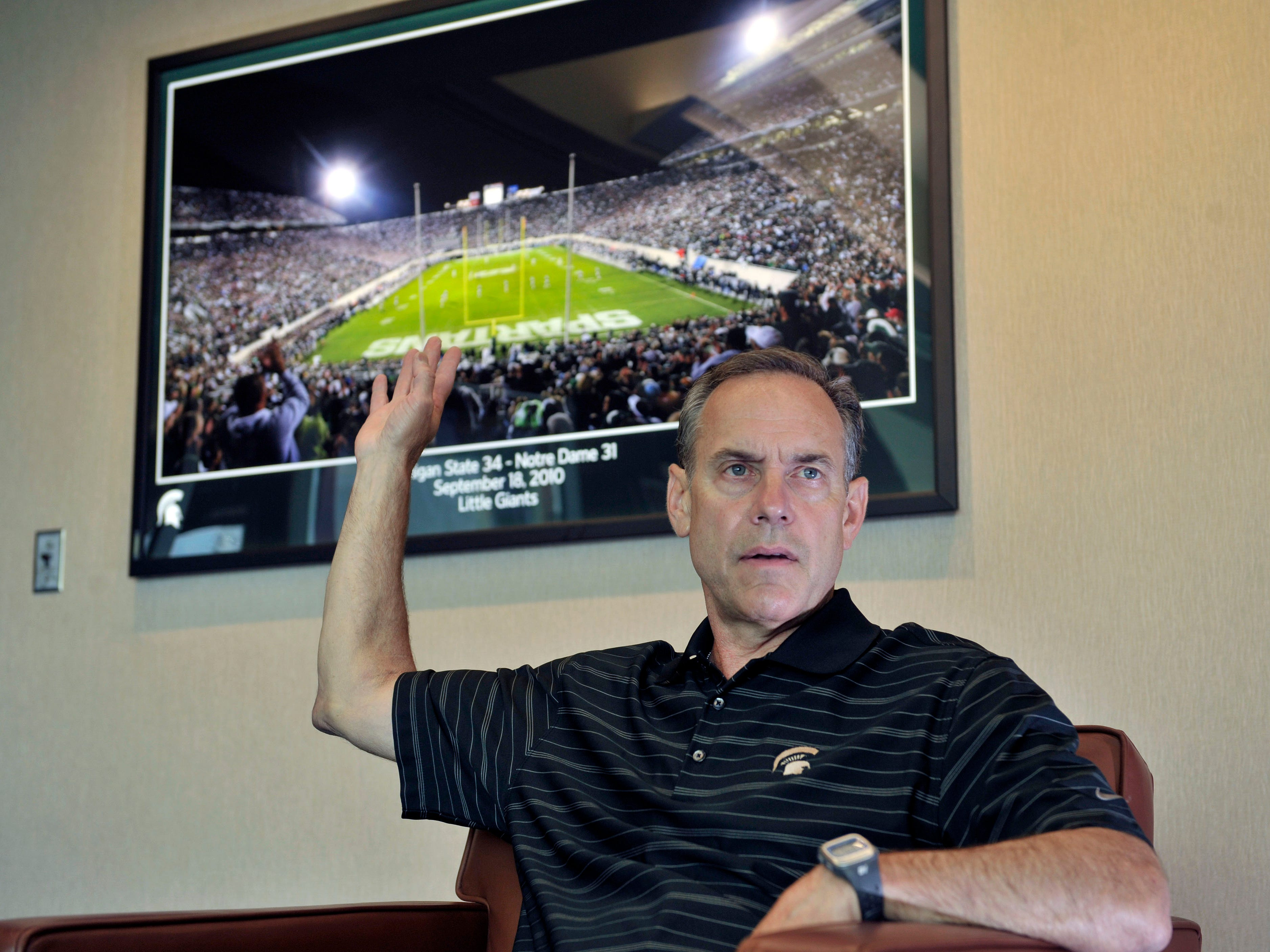 """MICHIGAN STATE-NOTRE DAME: This one goes back to 1897, and has stood the test of the time -- with such memorable games as the 1966 """"Game of the Century"""" (10-10 tie) and the 2010 game that ended on the """"Little Giants"""" fake field goal for a touchdown at Spartan Stadium. After the game, MSU coach Mark Dantonio actually suffered a mild heart attack."""