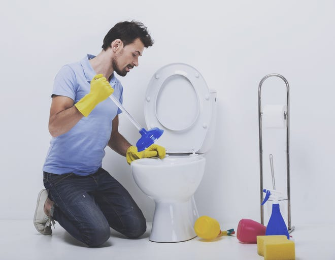 You can solve some toilet problems yourself, but don't hesitate to call a plumber if you exceed your own skills. (Dreamstime)