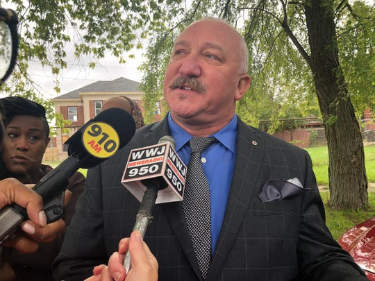 Detroit Fire Fighter Association President Mike Nevin speaks to reporters about ongoing concerns over the new fire code policy. He's calling for the administration to cancel it.