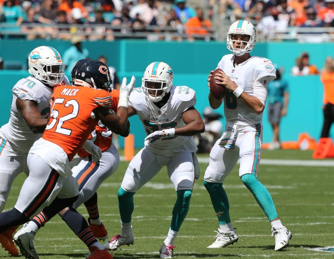 Brock Osweiler will be under center for the Dolphins against the Lions on Sunday.