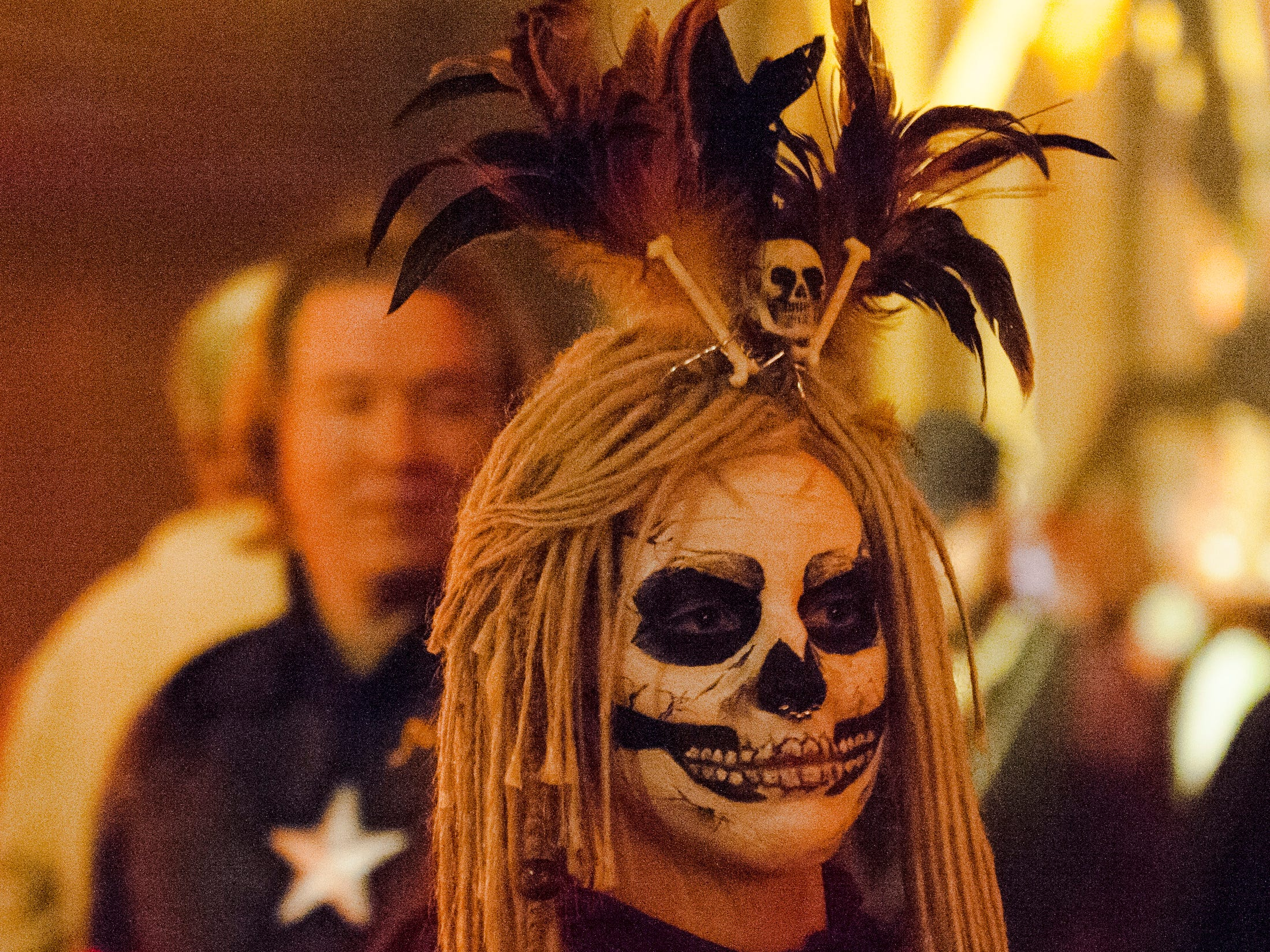 For back-to-back October weekends in Detroit the creepy and the curious alike converge on the towering Masonic Temple for the sprawling masquerade spectacle known as Theatre Bizarre. These are some of the sights seen inside Theatre Bizarre 'The Great Deception' on Saturday, October 13, 2018. Theatre Bizarre concludes this weekend with the second Masquerade Gala on Friday the 19th and the final Theatre Bizarre party on Saturday the 20th. For more information check out www.theatrebizarre.com. (John T. Greilick, The Detroit News)