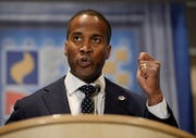 Republican John James of Farmington Hills