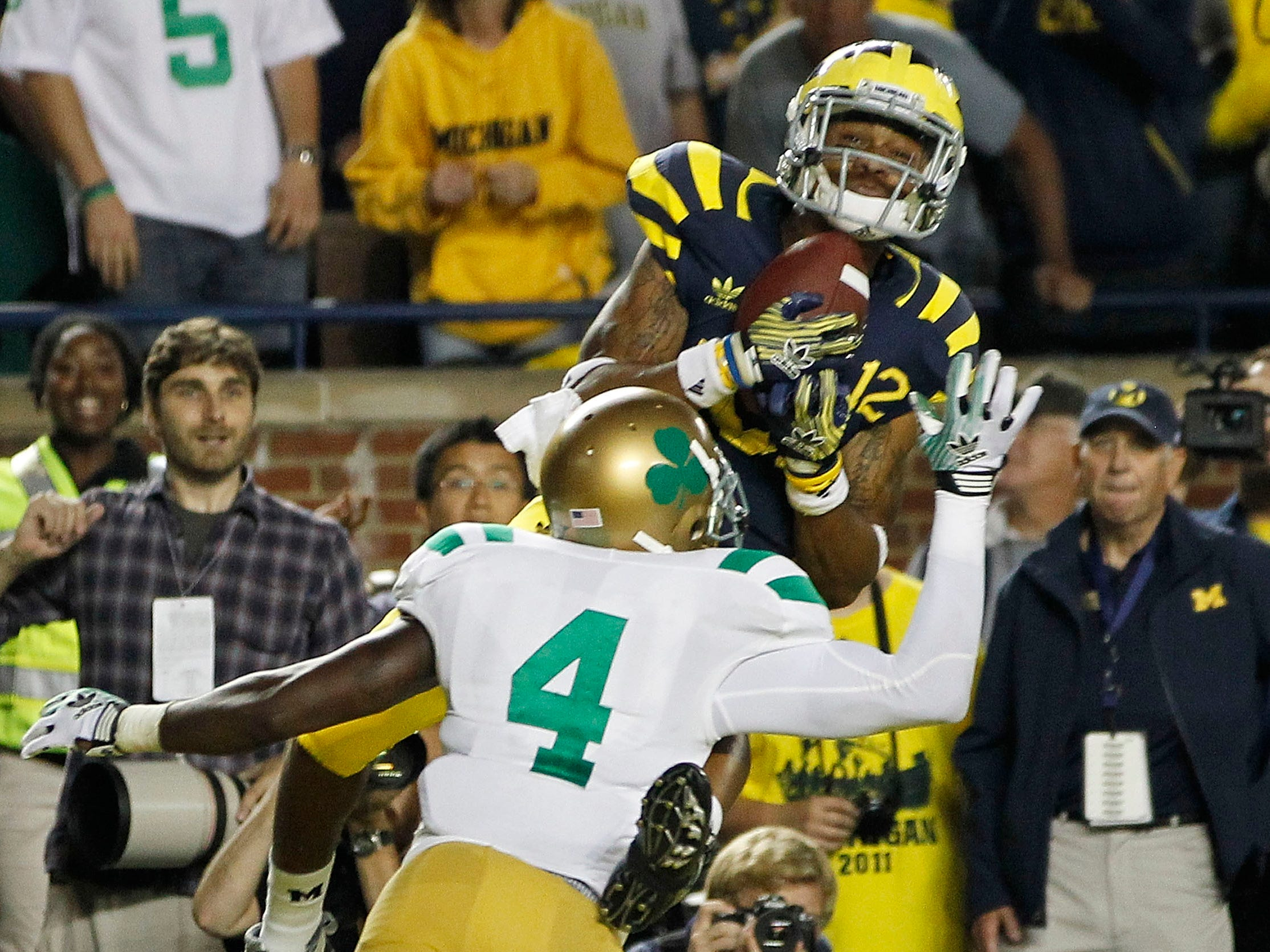 MICHIGAN-NOTRE DAME: They're Nos. 1 and 2, respectively, on the Division I FBS all-time wins list, and fittingly, they've had some fantastic football games over the years -- even though they don't play every year, and there often has been lengthy hiatuses in the rivalry.