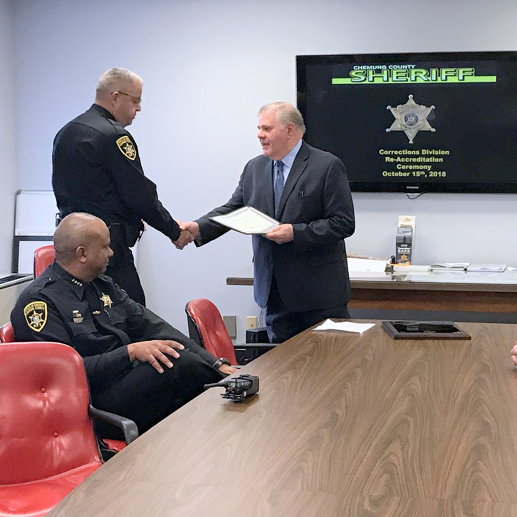 Chemung sheriff celebrates jail accreditation