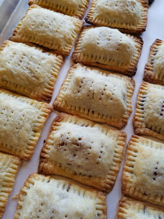 Love Pop Tarts and wish there were a healthy, homemade version? Now there are, from Because Bread Bakery. These are awaiting finishing touches.