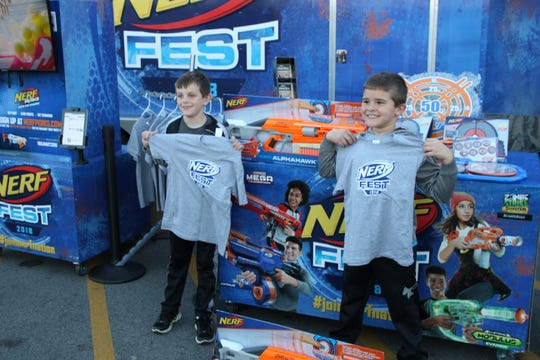 The Nerf Fest Moble Tour stopped at the Walmart Supercenter in Fremont on Sunday.