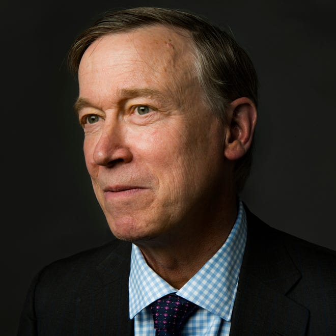 John Hickenlooper poses for a portrait during a visit to the Coloradoan newsroom on Monday, October 15, 2018.