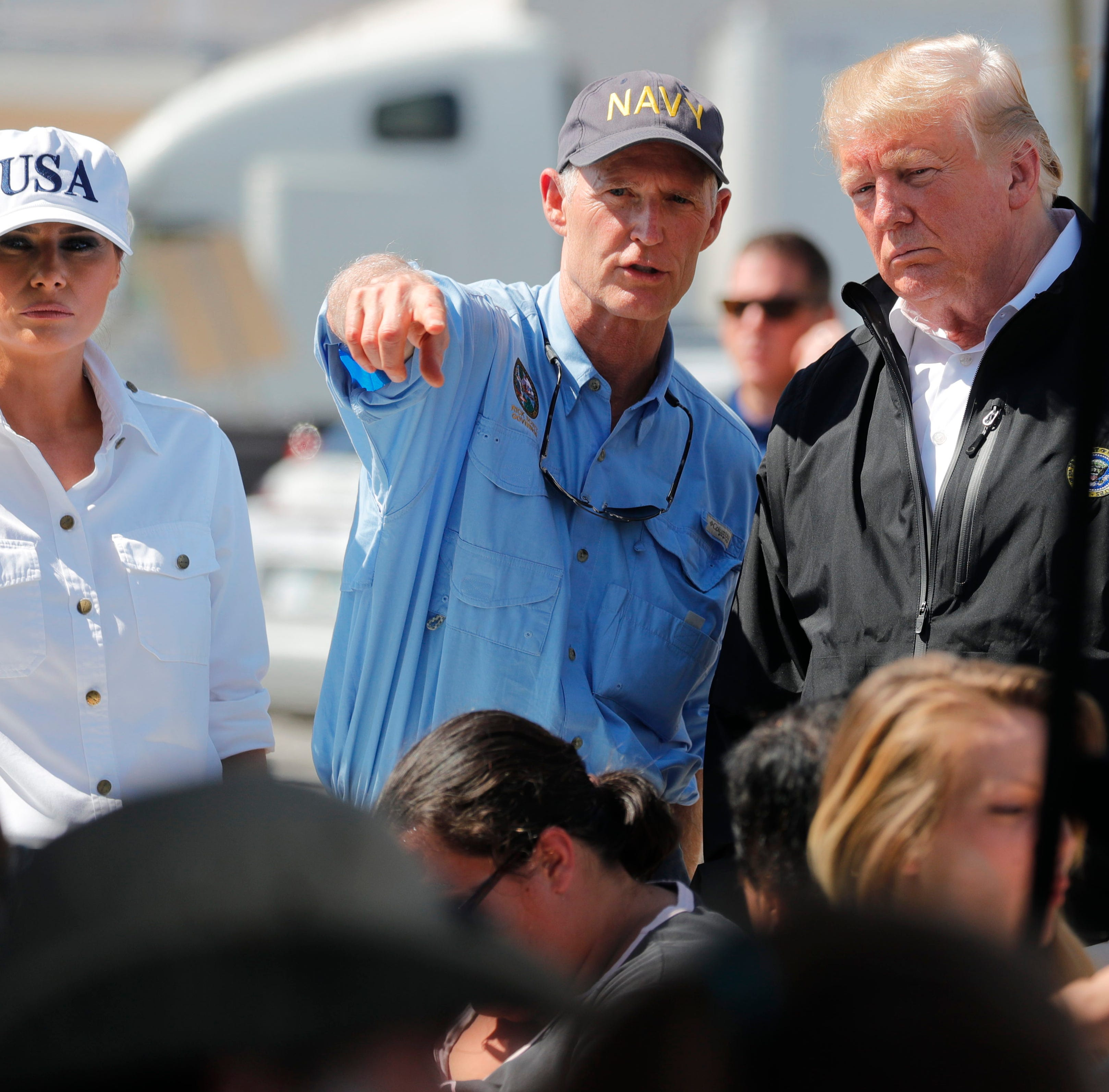 Trump praises first responders, Gov. Scott for Hurricane Michael response