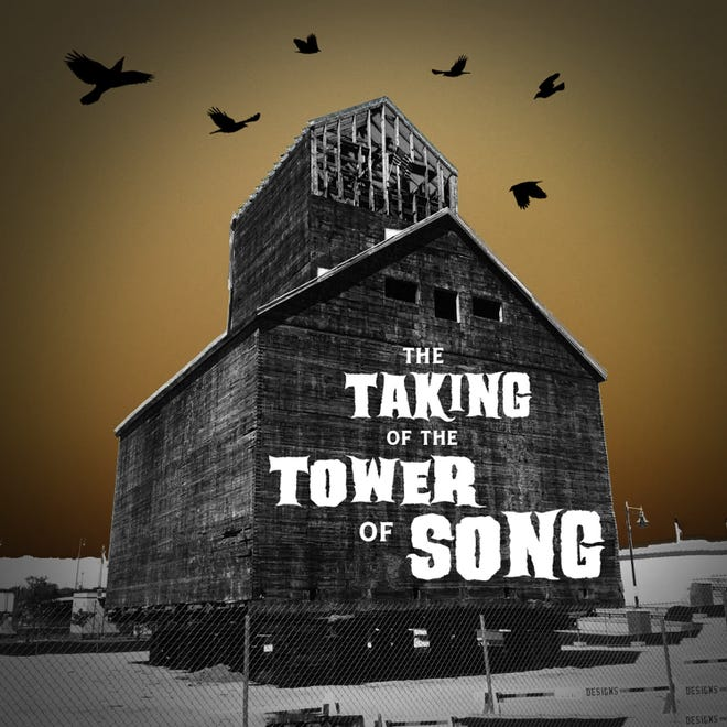 "The cover of the new double album rock opera ""The Taking of the Tower of Song,"" comprised of music written at last year's ""Dark Songs"" songwriting event about the historic Teweles & Brandeis grain elevator slated for demolition in Sturgeon Bay."