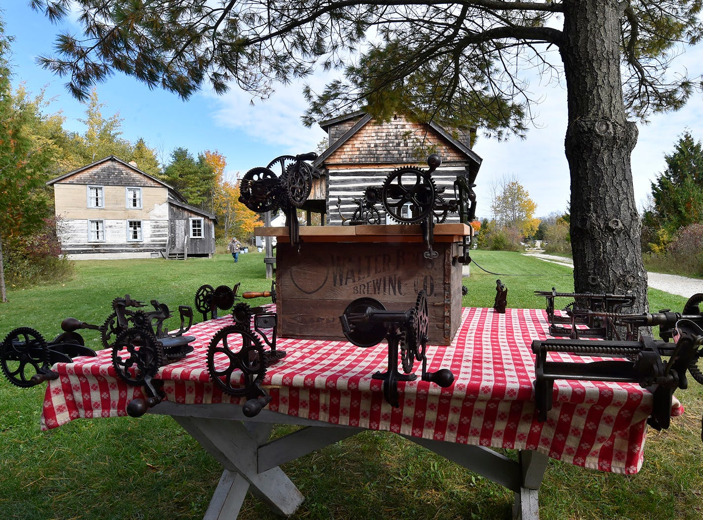 A collection of antique mechanical apple peelers on display during Apple Day at Heritage Village at Big Creek in Sturgeon Bay on Oct. 13, 2018. Tina M. Gohr/USA TODAY NETWORK-Wisconsin