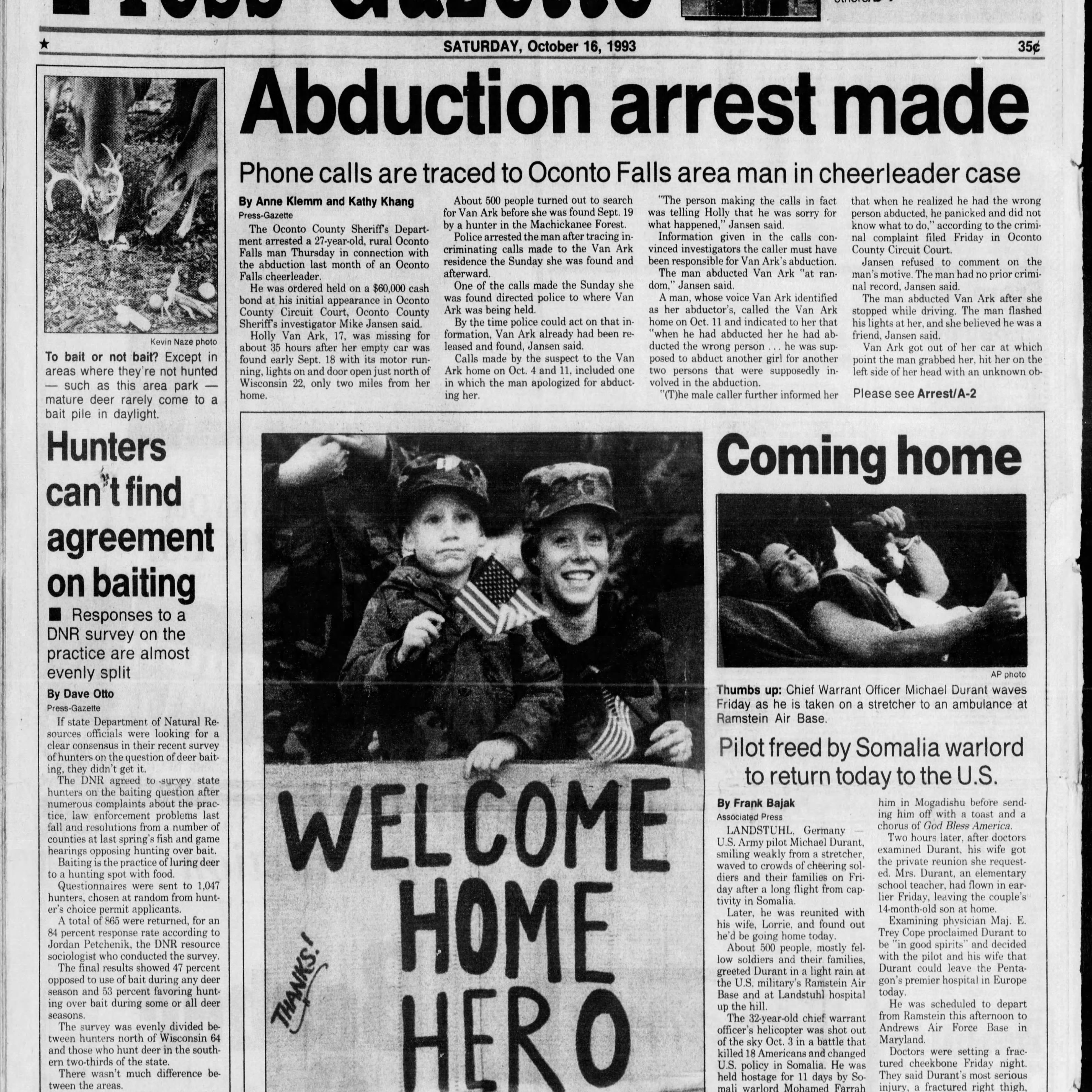 Green Bay Press-Gazette today in history: Oct. 16