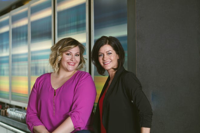 Jamie Malone, left, and Erin Minsart met at Concordia University while working on their MBAs and became business partners a few years later.