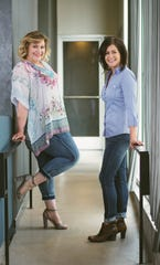 Jamie Malone, left, and Erin Minsart formed their company, Fresh Digital Marketing, with two services in mind: to train businesses to market on their own or to take it off their plate.
