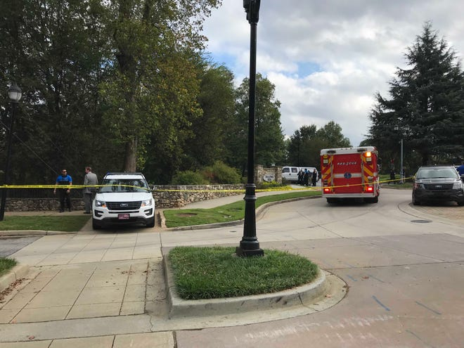 Police are investigating a death at Falls Park.