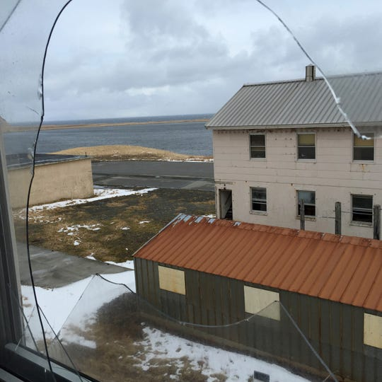 In this April 2015 photo, the buildings of the former Adak Naval Air Facility sit vacant in Alaska. The Trump administration is considering using West Coast military bases or other federal properties as transit points for shipments of U.S. coal and natural gas to Asia.