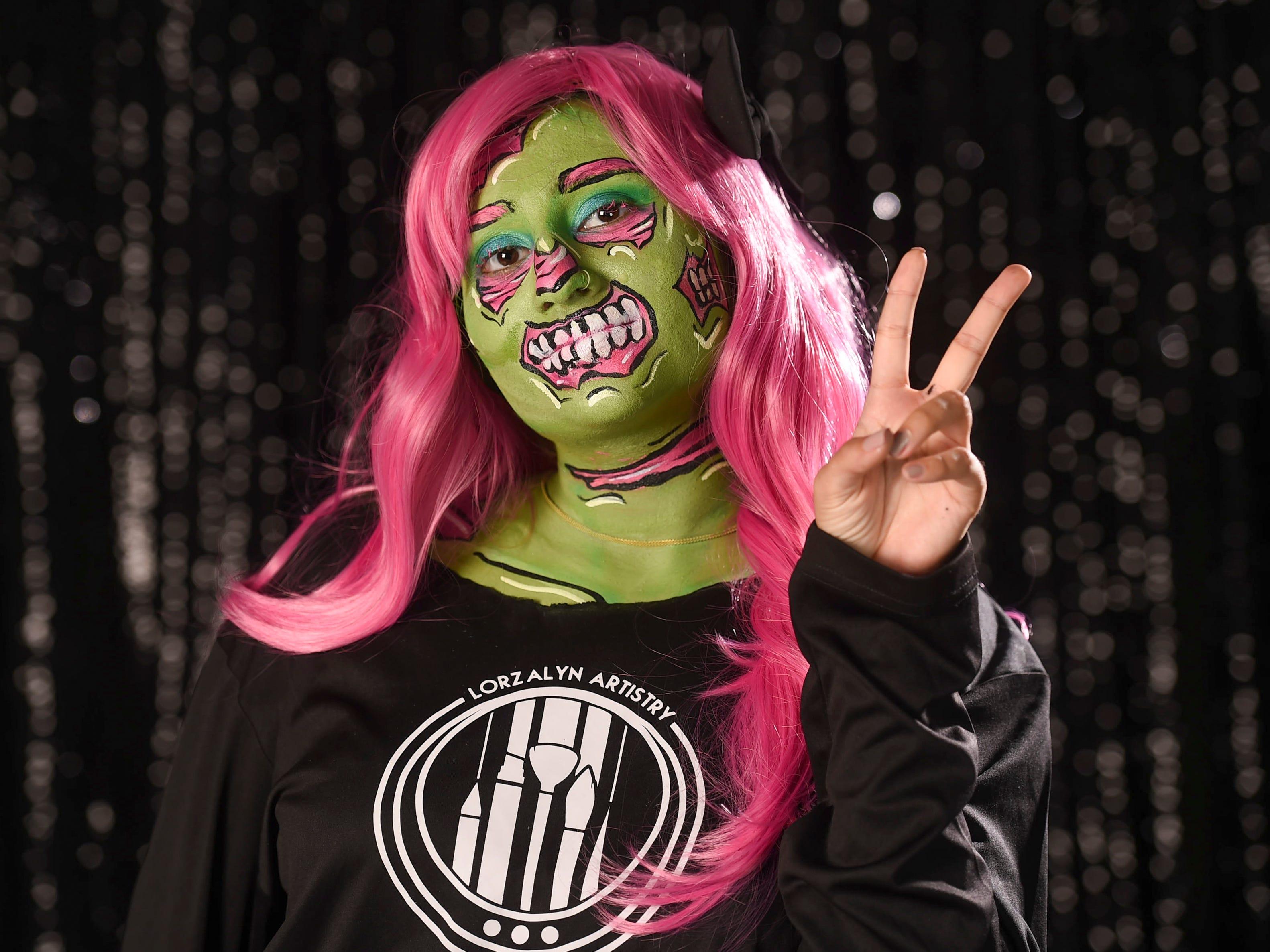 Pacific Daily News reporter Anumita Kaur as a pop art zombie, Oct. 9, 2018.