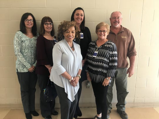 The Habitat for Humanity board members were present at the luncheon. Left to right: Julie Wallace, Jo Sheridan, Zelinda Fellows, Kristin Baird, Kathy Welden, Eddie Sheffer.