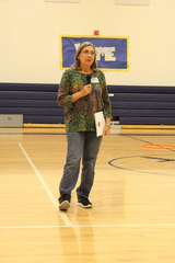 Lisa Watson with the Union County Recycling Program visited JPII to share knowledge of recycling in our county.  Ms. Watson also reminded the students that the playground material soon to be installed is created with recycled tires.