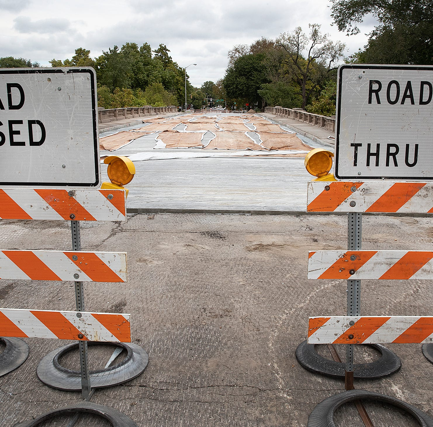 The City-County Council is expected to pass an annual budget tonight that provides money to repair and maintain roadways. Here is the construction project of the College Ave. bridge over Fall Creek Monday, Oct. 15, 2018.