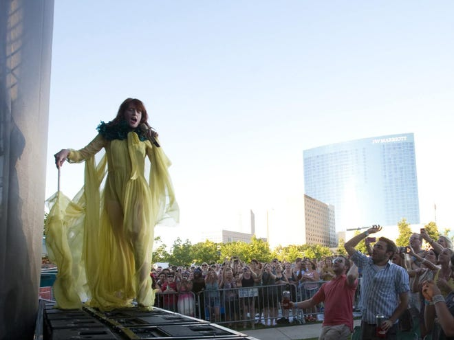 This 2011 image shows a Florence & the Machine performance at the Farm Bureau Insurance Lawn at White River State Park.