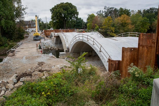 The City-County Council is expected to pass an annual budget tonight that provides money to repair and maintain roadways. Here is the construction project of the Central Ave. bridge over Fall Creek Monday, Oct. 15, 2018.