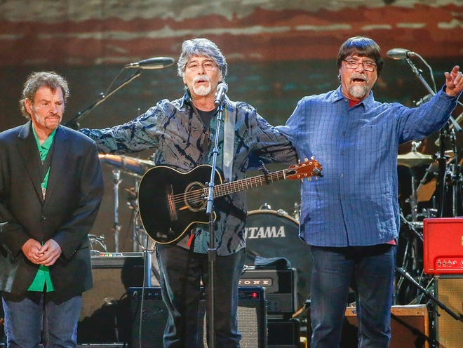Alabama (from left, Jeff Cook, Randy Owen and Teddy Gentry) postponed its Jan. 11 performance at Bankers Life Fieldhouse.