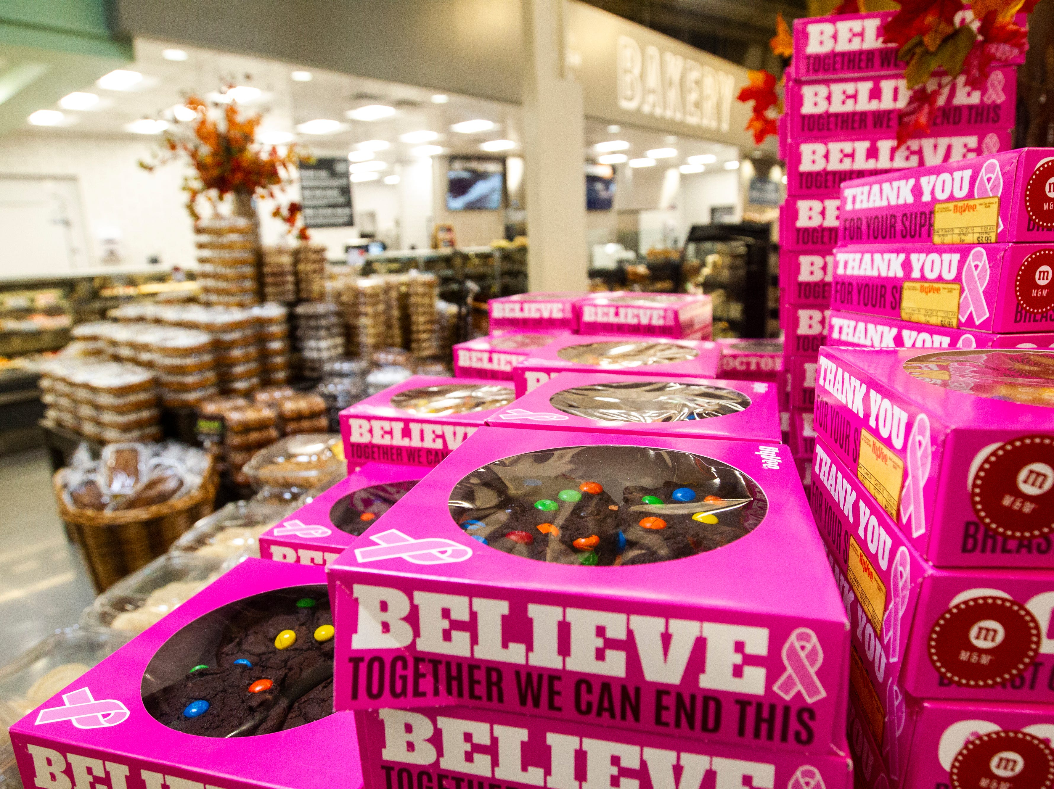 Baked goods are seen at a new Hy-Vee on Monday, Oct. 15, 2018, along Crosspark Road in Coralville, Iowa.