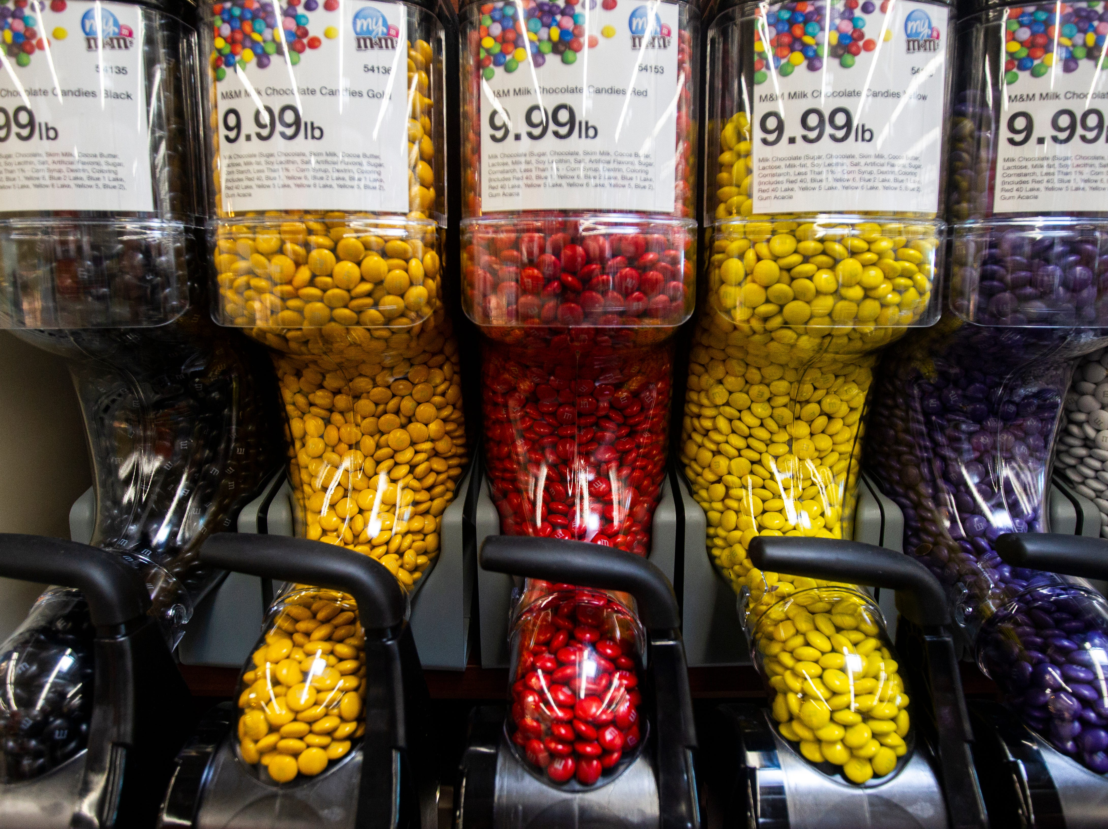 Candy varieties are seen in an aisle at a new Hy-Vee on Monday, Oct. 15, 2018, along Crosspark Road in Coralville, Iowa.
