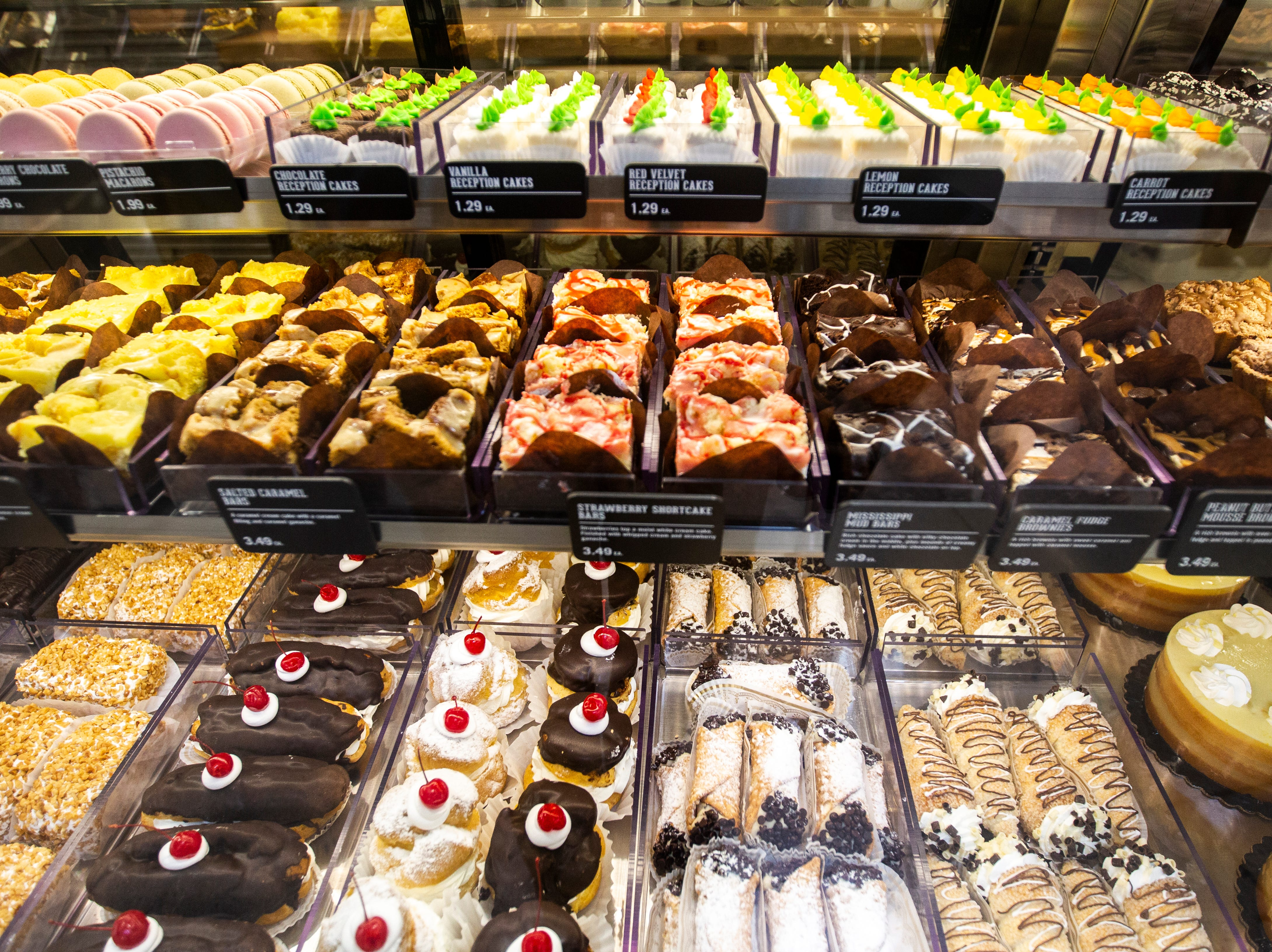 Patisserie baked goods are displayed at a new Hy-Vee on Monday, Oct. 15, 2018, along Crosspark Road in Coralville, Iowa.