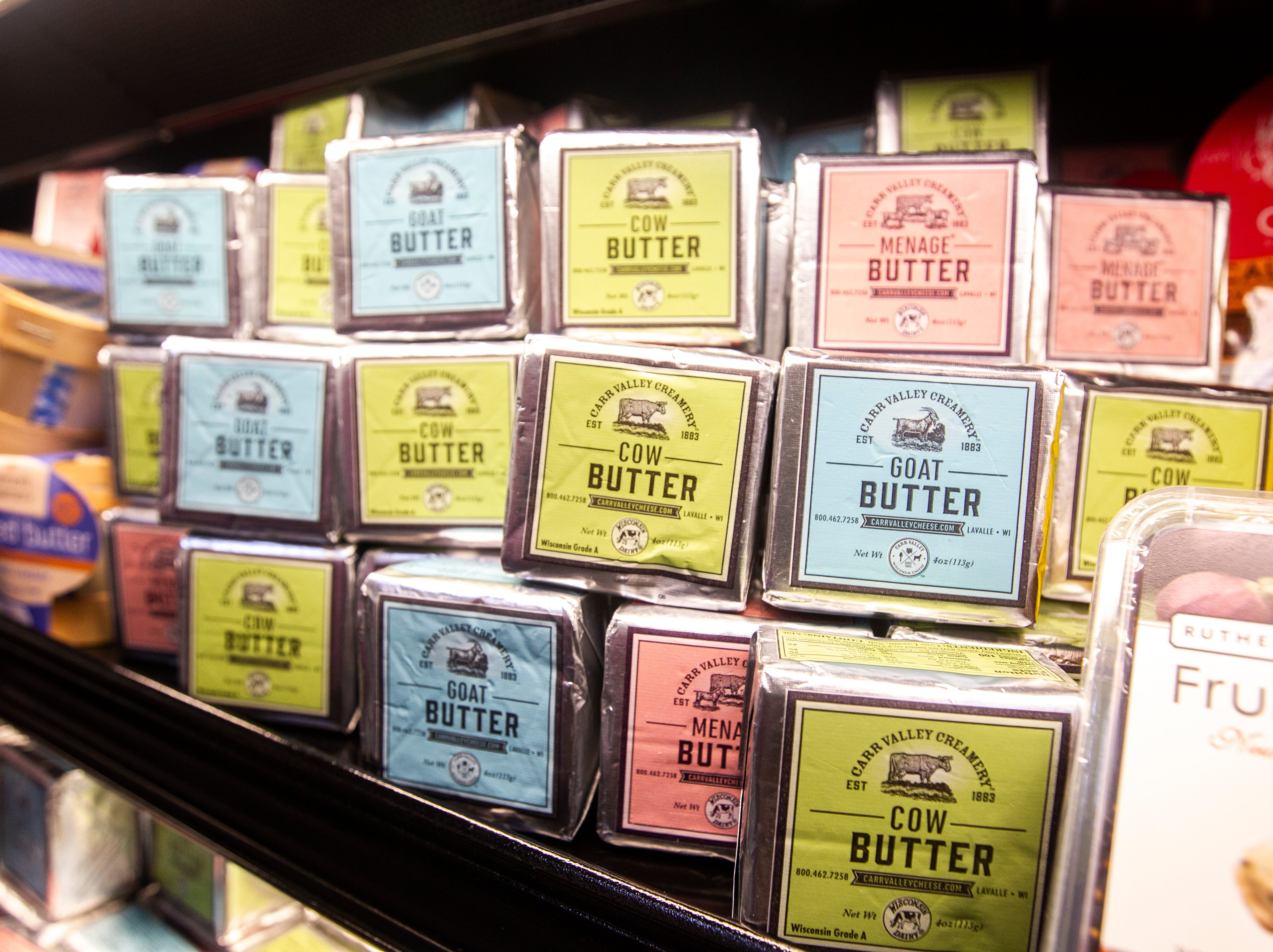 Butter varieties are seen at a new Hy-Vee on Monday, Oct. 15, 2018, along Crosspark Road in Coralville, Iowa.