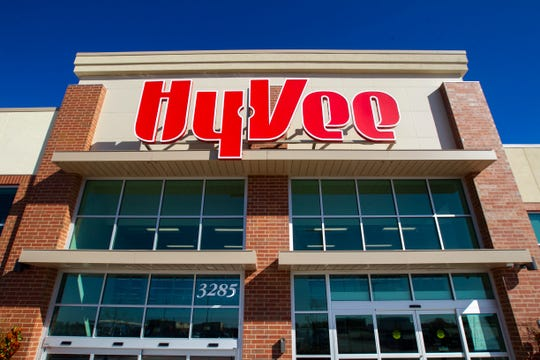 Hy-Vee is seen on Monday, Oct. 15, 2018, along Crosspark Road in Coralville, Iowa.