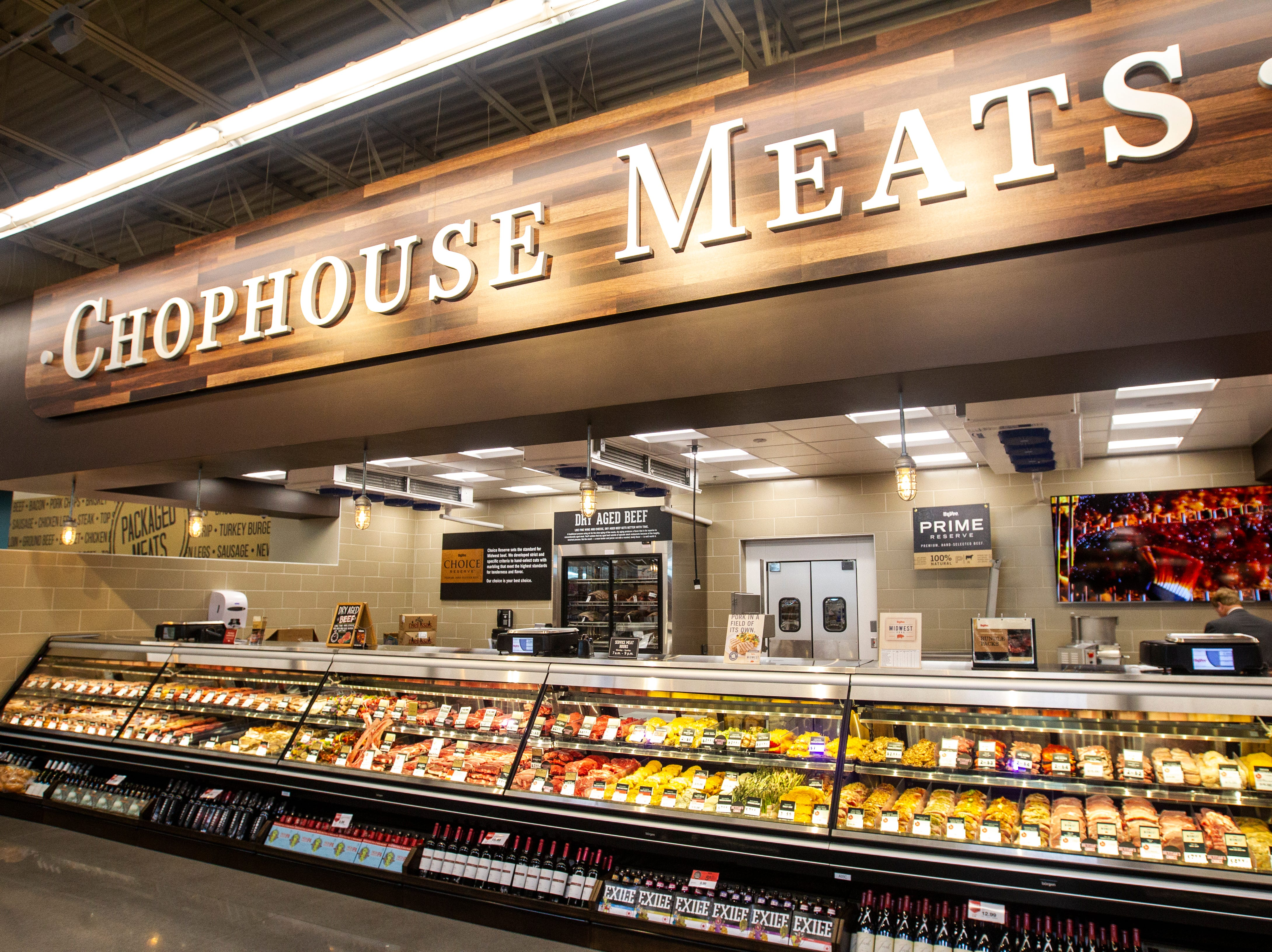 The chophouse meat department is seen at a new Hy-Vee on Monday, Oct. 15, 2018, along Crosspark Road in Coralville, Iowa.