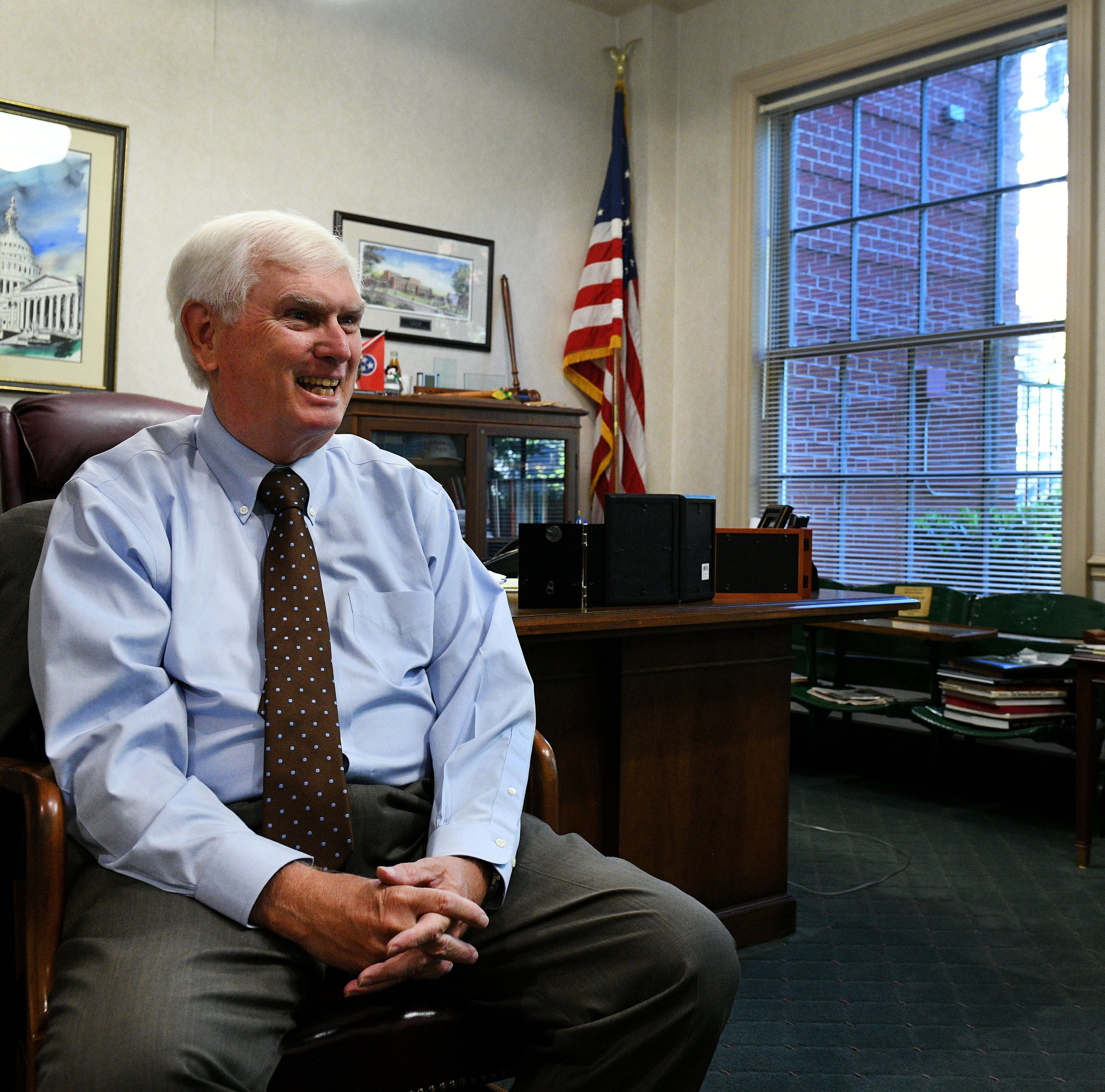 "Retiring Congressman John J. ""Jimmy"" Duncan in Knoxville Friday, Oct. 12, 2018."