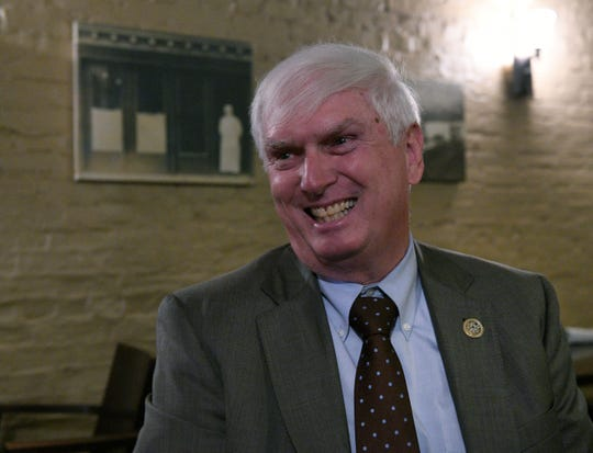 """Retiring Congressman John J. """"Jimmy"""" Duncan at lunch in Knoxville Friday, Oct. 12, 2018."""