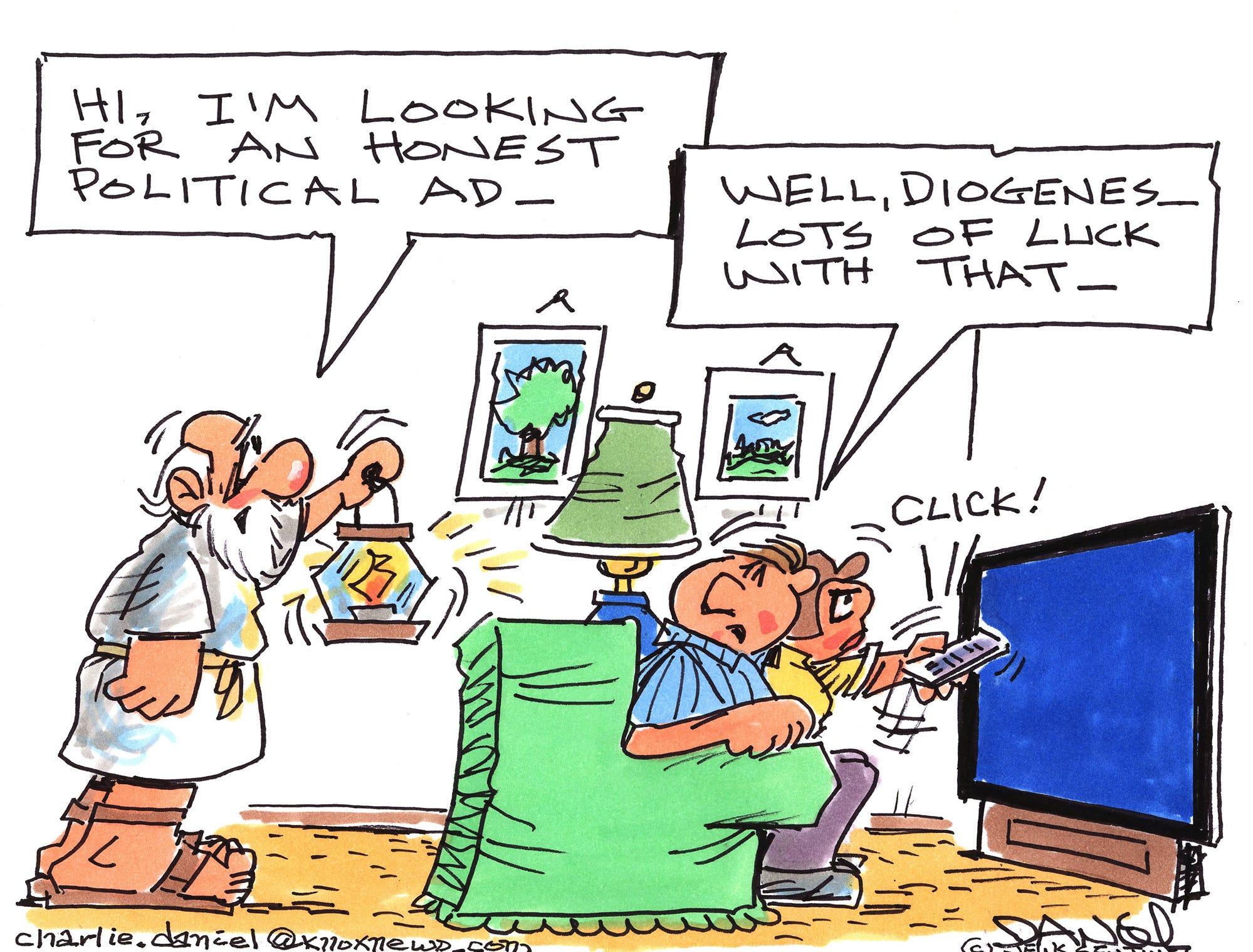 Charlie Daniel editorial cartoon for Tuesday, Oct. 16, 2018.