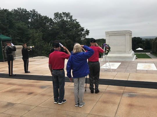 Honor Flights take veterans and family members to Washington D.C. to view war monuments.