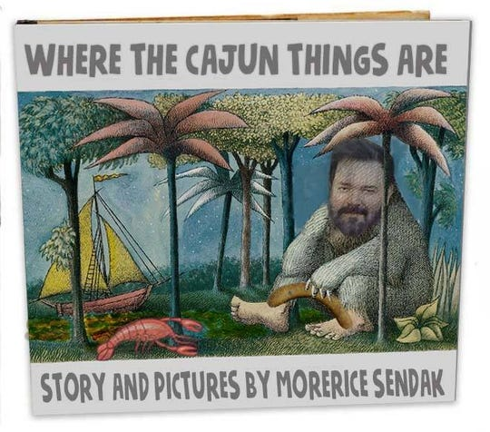 Spaine Edler regularly creates humorous images to poke fun at south Louisiana. Here's a meme he made with a photo of himself as the subject.